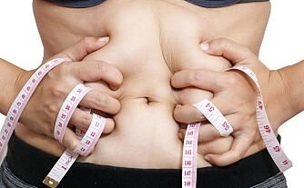 MIDJEFETT: Hvor farlig fettet ditt er, avhenger av hvordan det er fordelt på kroppen. Midjefettet er det farligste fettet du har.