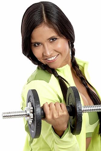 TRENING: Økt muskelmasse gir økt forbrenning, og en kropp som tåler mer.