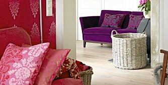 FARGEPLETTER: Rosa og lilla er to av favorittfargene til eierne.
