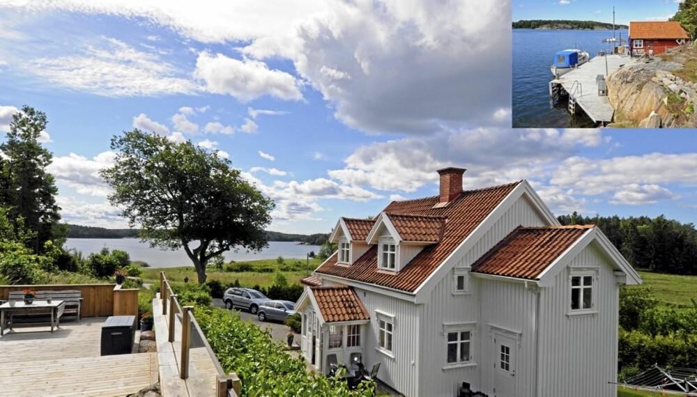 TIL SALGS: Daftö Rönneberget 1, Strömstad. Pris 10 000 000 svenske kroner. Antall rom 13. Boareal 250 kvm. Tomt 1000 kvm. Byggår 1909