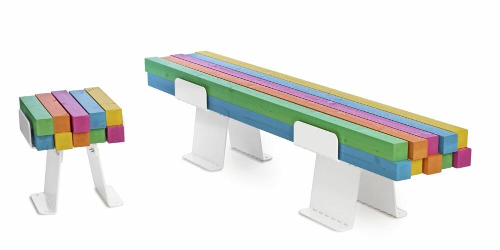 FARGEDE BJELKER: Pylon kan bestilles direkte fra produsenten Nola.