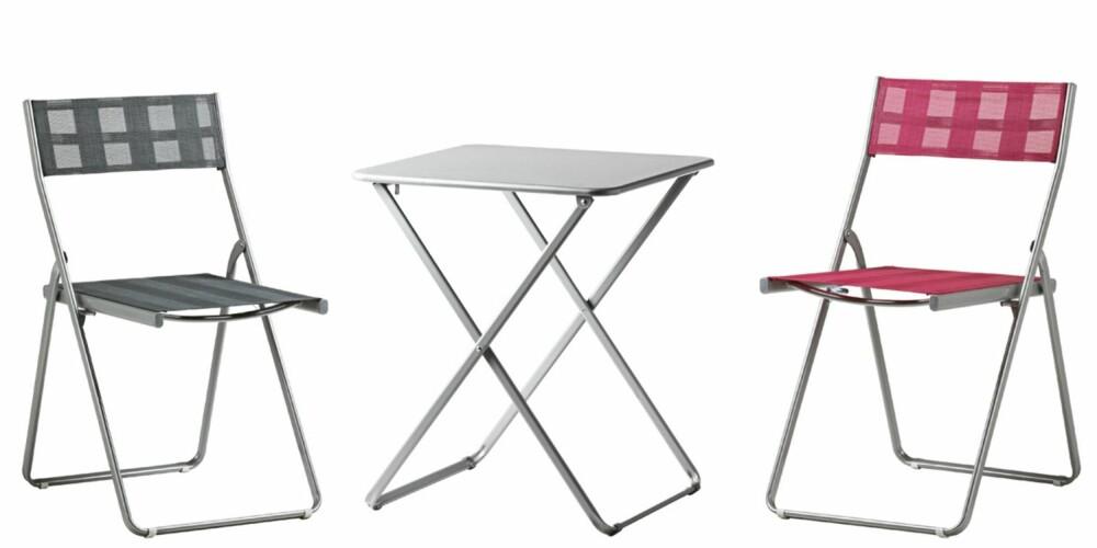 RIMELIGE KLAPPMØBLER: Härö stol kr 149, bord (60 x 60 cm) kr 195 er blant Ikeas nyheter i år.