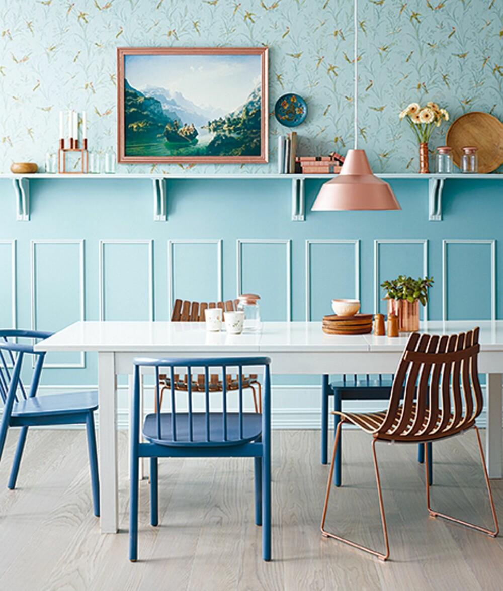 FAVORITTFARGE: Blått er nordmenns desiderte favorittfarge. I tillegg gir fargen økt romfølelse, og den harmonerer med nesten alle farger.
