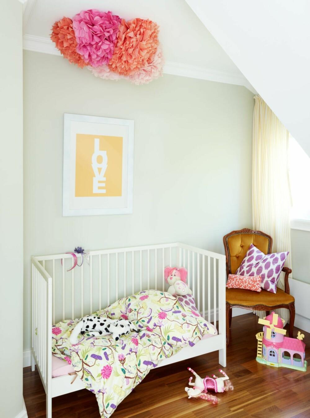 LYST GRØNT: Barnerommet blir smakfullt i lys grønn, og passer til både gutt og jente.