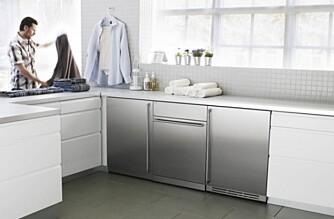 STRAMT: På dette vaskerommet er stilen stram og funksjonell.