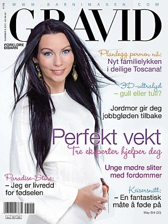 """FORSIDEMODELL: Stine Marie er forsidemodell i den siste utgaven av <a href=""""http://www.bladkiosken.no/barn-familie/gravid/index.php"""">GRAVID</a>."""