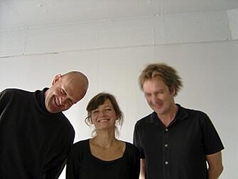 DET KREATIVE TEAMET: Fra venstre arkitektene Einar Jarmund, Allessandra Kosberg og Håkon Vigsnæs.