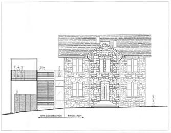 NYTT PÅ GAMMELT: Arkitektene fra Faleide Architects tok jobben med å lage nytt tilbygg på det gamle skolebygget.