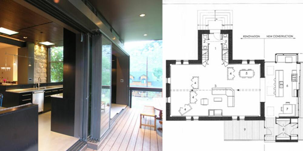 FUSJON: Moderne interiør i kontrast til byggets gamle utside.