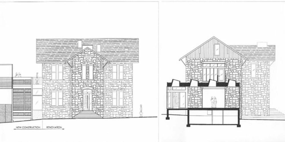 ARKITEKTTEGNET: Arkitektfirmaet Faleide Architects tok på seg jobben med å bygge om det historsike bygget.