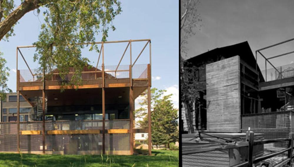 PÅ SKOLEBENKEN: I Colorado i USA gjorde en familie hjem av en gammel skolebygning.