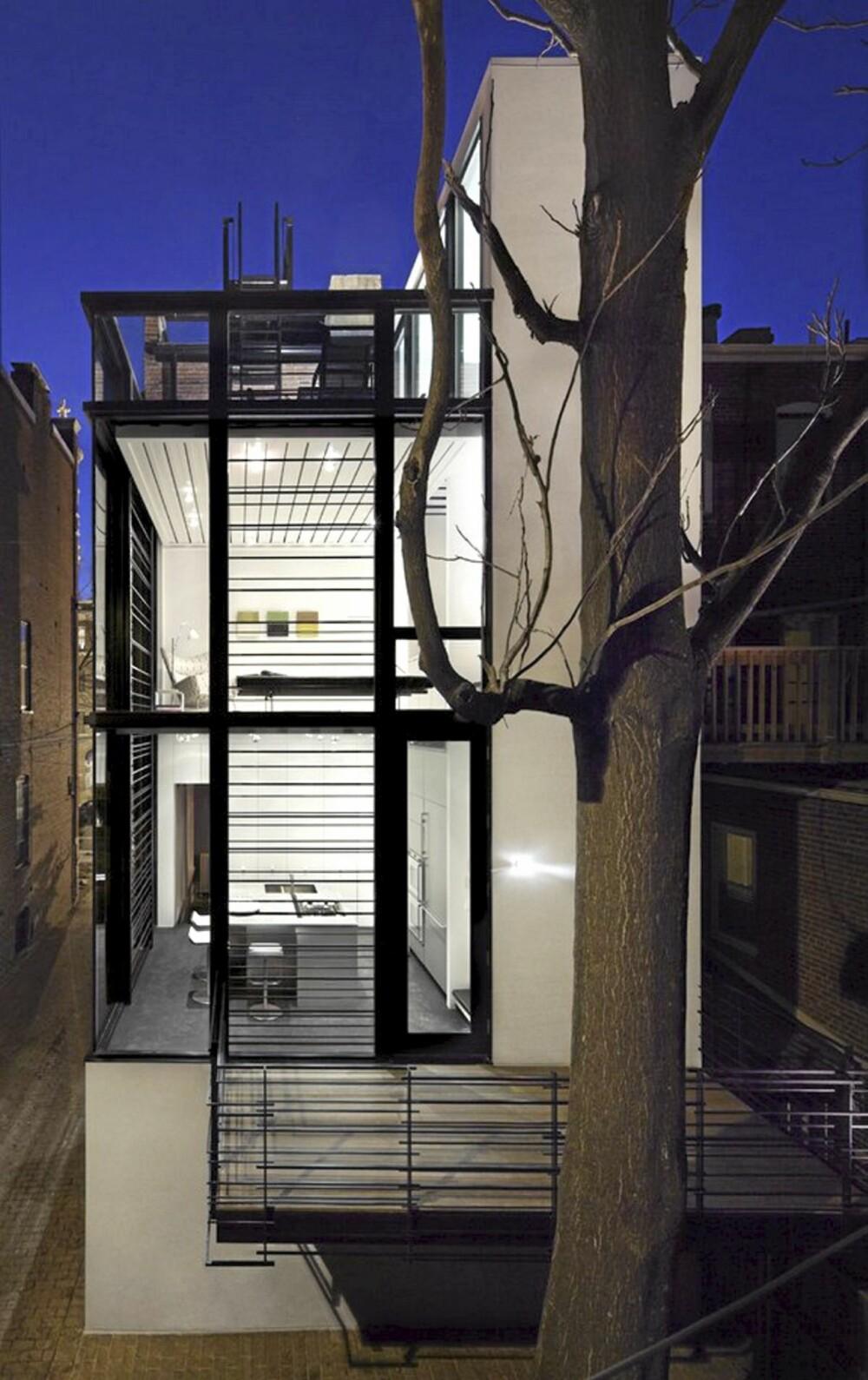 UNIKT: Arkitektene hos David Jameson Architect tegnet huset i nøye samarbeid med huseier.