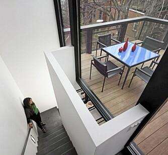 MER PLASS: Det nye tilbygget ga familien rom til et nytt kjøkken og større stue, i tillegg til ny balkong.