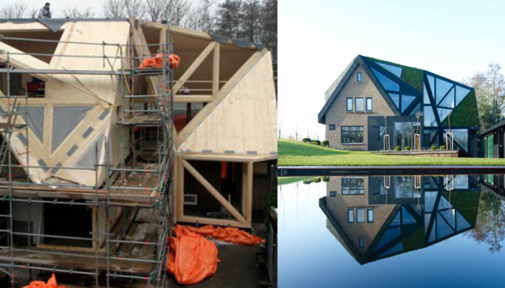 BYGG PÅ BYGG: Arkitektene fra Ooze satte lokk på huset.