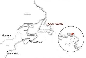 VIKTIGE OPPDAGELSER: Fogo Iland ligger bare et par hundre kilometer fra der Anne Stine og Helge Ingstad fant spor etter, og bevis for at vikingene var de første europeere som oppdaget Amerika.