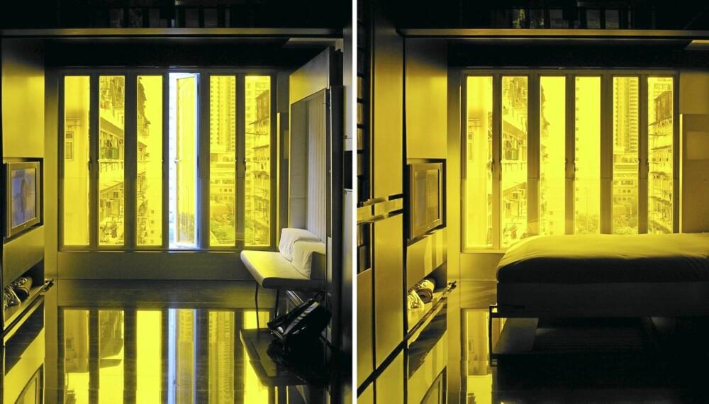 Skyvevegger: Fra Tv-rom til soverom, og bak flatskjermen finner du kjøkkenet.