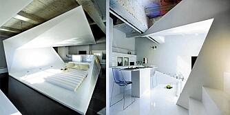 ORIGAMI: I utstillingsleiligheten The Habitable Fold er plassen utnyttet til det maksimale.