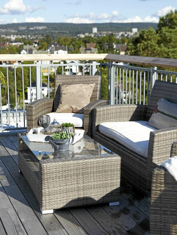 TAKTERRASSE. Terrassen på toppen av bygget har sol hele dagen.