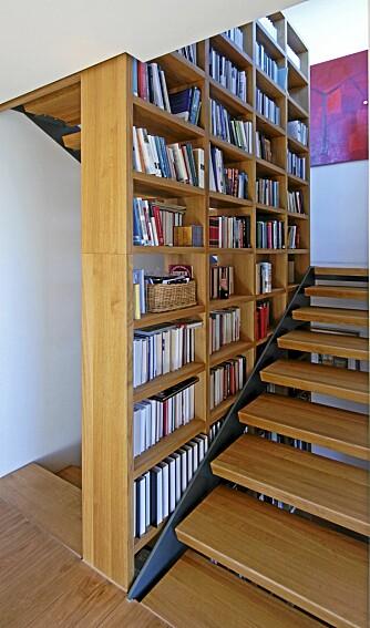 HELHETLIG: En enkel konstruksjon og solid materialbruk gir trappen lang levetid. Fra et prosjekt av  arkitekt Stein Halvorsen.