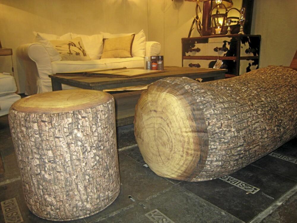 PUFF: En gruppe puffer som ligner på trær prydet utstillingen til Chehoma på Maison & Objet i Paris.