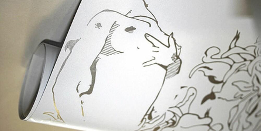 STILREN EROTIKK: Kropper skjult i mønstre i erotisk tapet fra Paper Voyeur.