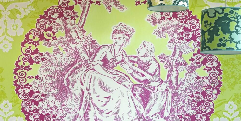 ROMANTIKK: Amore di Colore 301115 fra Eijffinger i Holland selges av Astex i Norge.