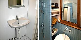 ETIKK OG ESTETIKK: Det lille badet er pusset opp etter etiske retningslinjer.