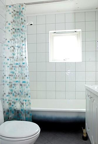 FØR: Badet på 5 kvm hadde et preg av 80-tallet.
