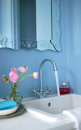 VANNTETT: Velg vanntett maling i lyse farger. Og gjerne litt pynt.