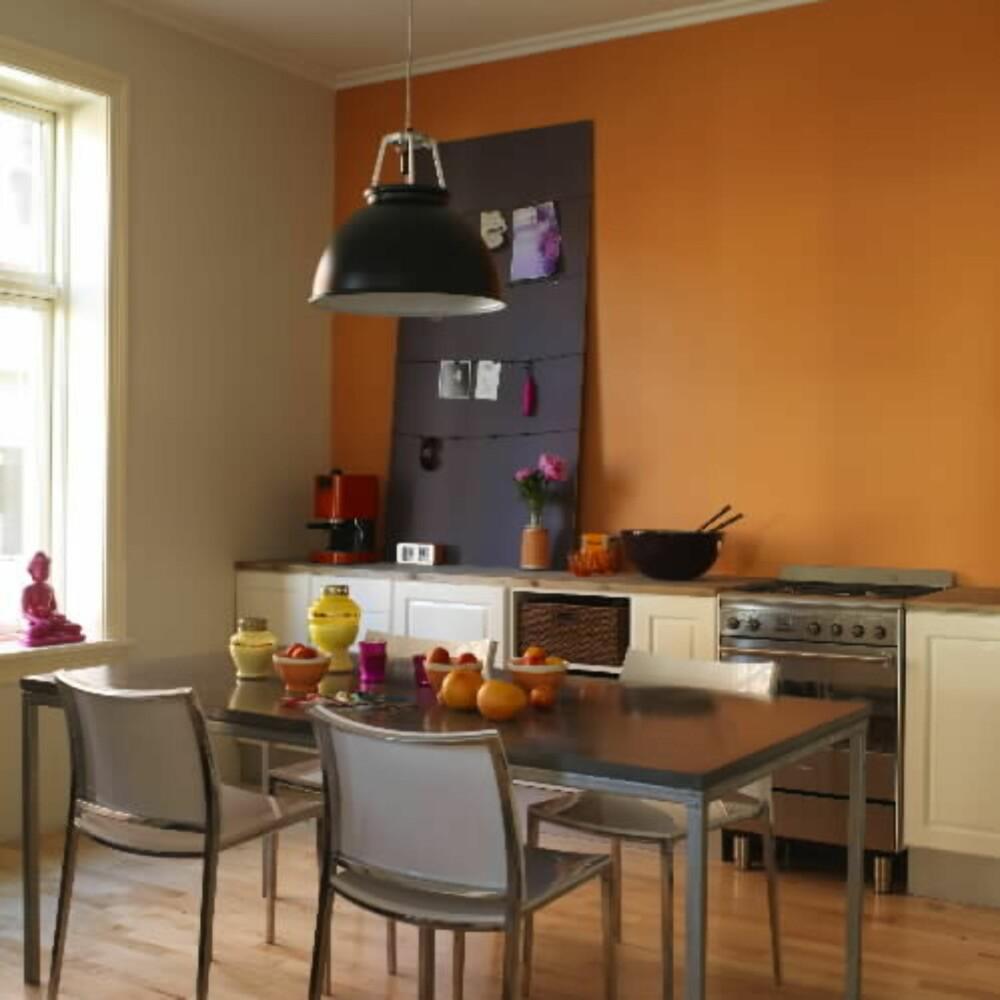 Fargekatt: En oransje vegg kan fungere som antidepressiva.