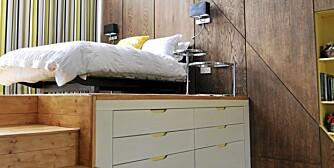 GOD PLASS: Gode oppbevaringsløsninger frigir gulvplass i boligen.