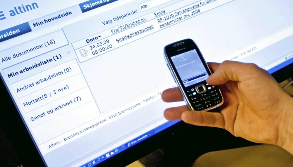 NY BOLIGSKATT: I forbindelse med det nye systemet for verdifastsettelse av bolig, skal du bl.a sende inn opplysninger om boligstørrelse og byggeår, og dette kan du gjøre per SMS.