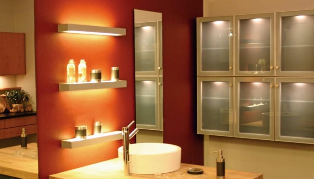 SPAR: Slå av lys og varmekabler på badet om natten og spar penger.