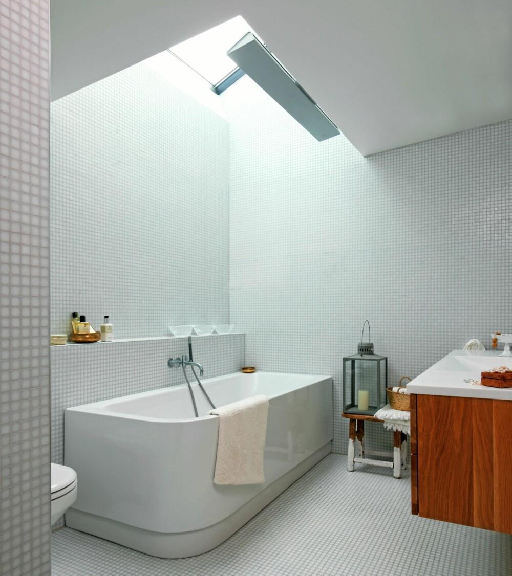 ARKITEKTENS LYSFONTENE: Prosjektet er ved arkitektene Josefson/Grenan. Mosaikkflisene er fra Bisazza. Belysning fra iGuzzini.