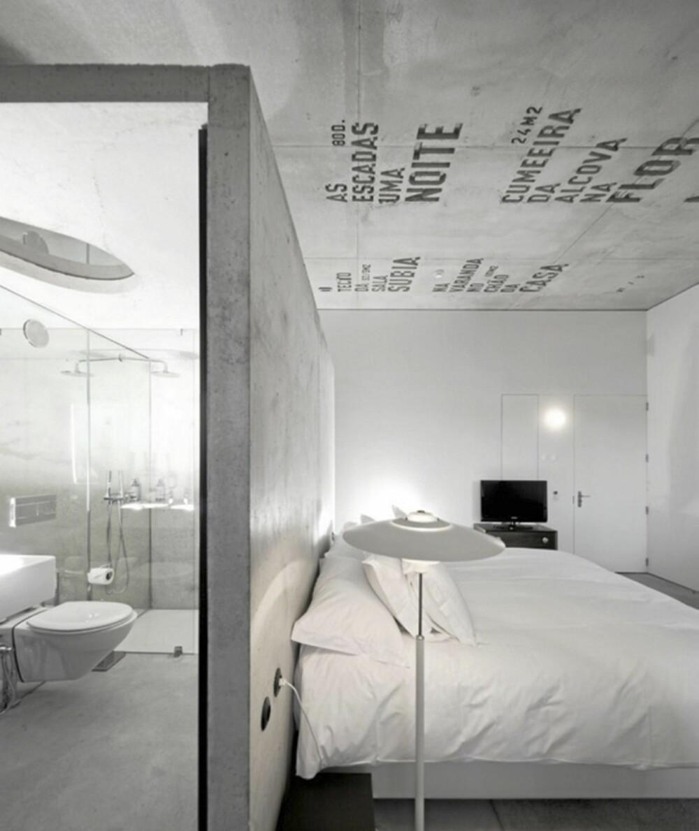 DEKOR: Hvert rom er innredet forskjellig, og alle rommene er dekorert med tekst fra ulike forfattere som har en relasjon til byen Porto.