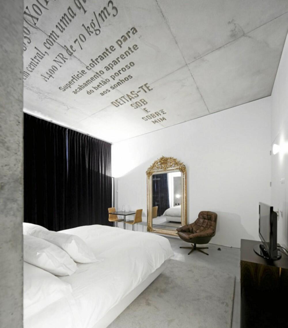 TYPOGRAFI: Gamle grafiske tekster dekorerer de ulike rommene på Casa Do Conto