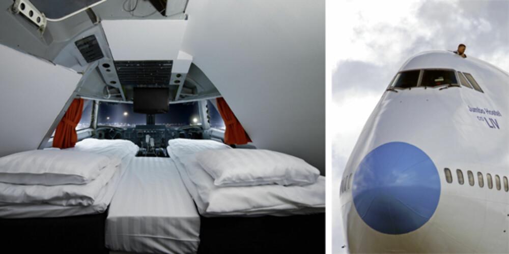 COME FLY WITH ME: I Stockholm kan du nå sjekke inn på en pensjonert jumbojet.