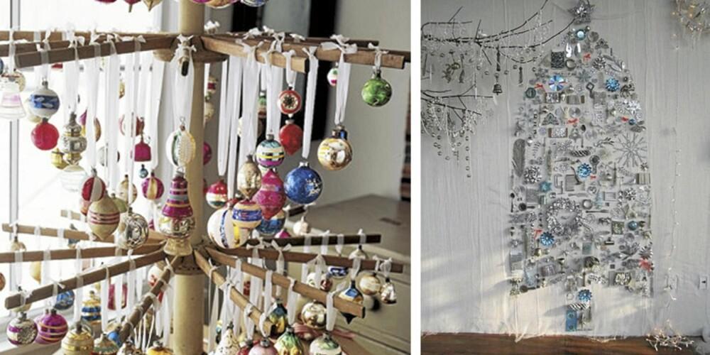UTRADISJONELLE: Mange er svært tradisjonelle når det komemr til julepynten. Da blir det kanskje helt feil med ett av disse treene på julekvelden.