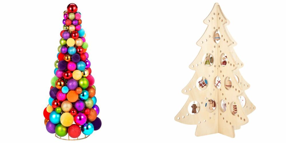 MODERNE: Disse juletrærne blir garantert en snakkis når julegjestene kommer.