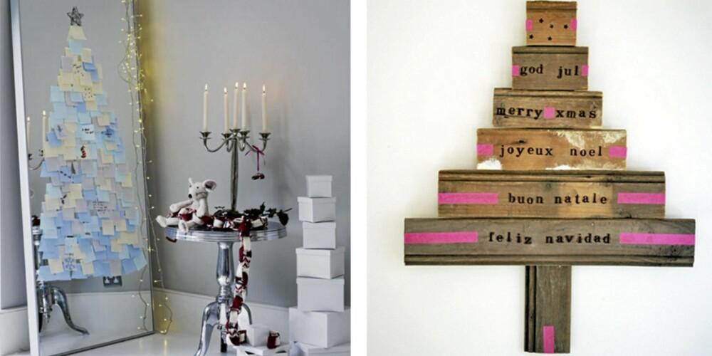 TENK NYTT: Vær kreativ når du setter opp årets juletre. Det er ikke NØDT til å være den samme gamle grana.