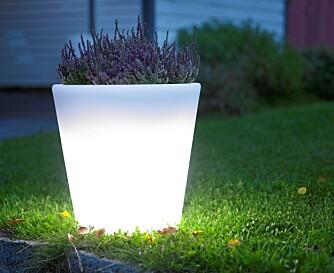 LYNG OG LYS: Lysende blomsterpotte, Light Pod, kr 1100, Verket Interiør.