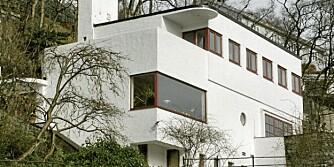FUNKSJONALISME: Funkishus fra 1934  i Bergen tegnet av Leif Grung.