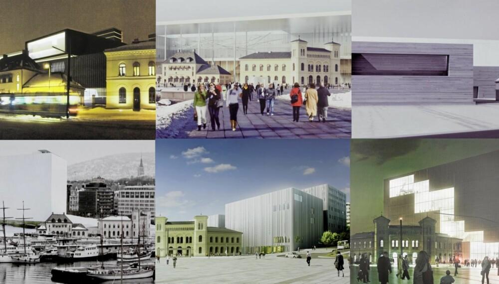 De seks forslagene fra foreløpig hemmelige bidragsytere hetere Back in Black, Forum artis, m_box, Trylleesken, Urban Canvas og Urban Transition.