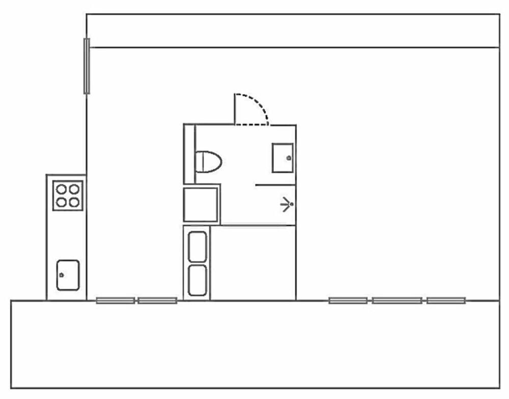 SNEDIG PLAN: Kjernen i den nye planløsningen er en boks som består av bad, sovealkove og oppbevaringsplass.