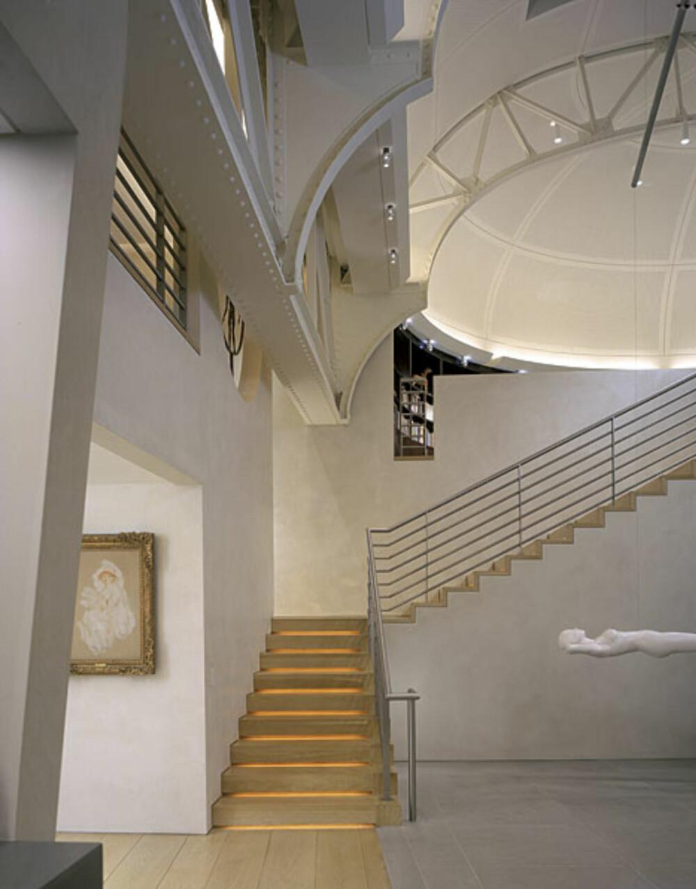 GRANDIOS: Den store takhøyden gjør at bygget er plass til unike arkitektoniske løsninger.