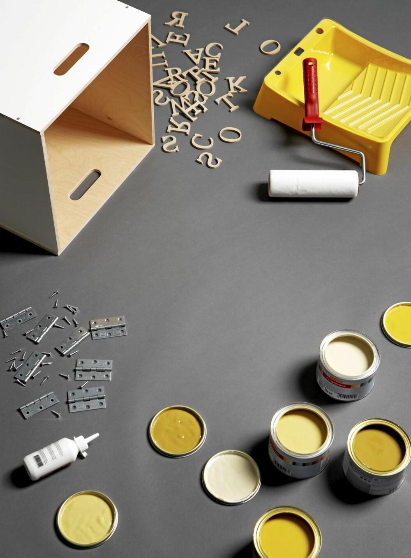 KUL OPPBEVARING: Kassene behøver ikke å males. Om man ønsker kan de beholdes i sin opprinnelige farge.