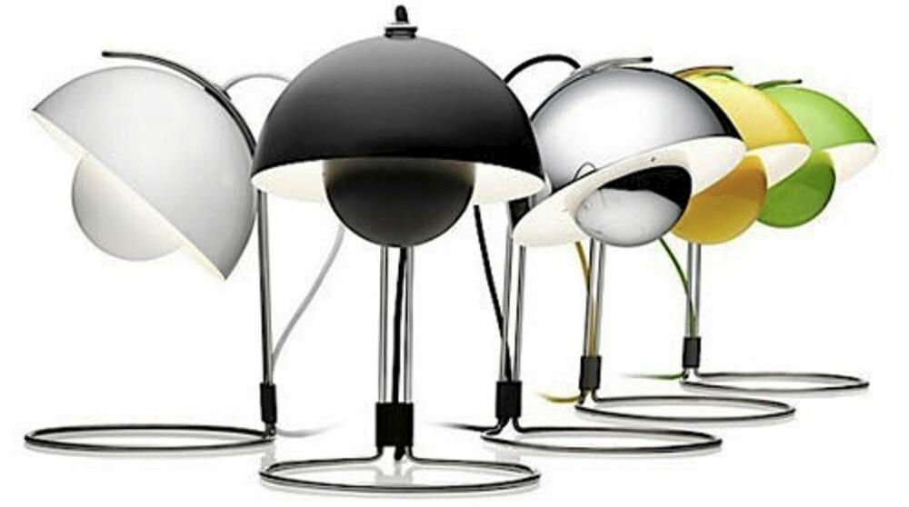 KLASSIKER: Hos designdelicatessen kan man få kjøpt designklassikere, slik som FlowerPot lampen av Verner Panton.