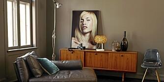 VEGGFARGE: Kjølige og mørke farger på veggene kan gi et maskulint interiør
