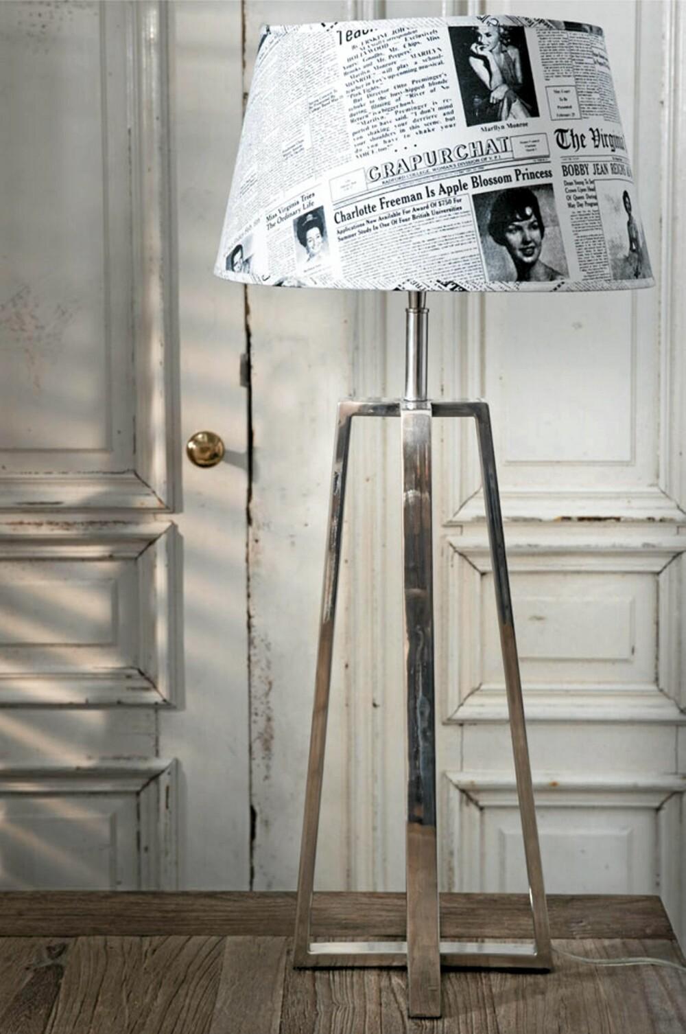 AVISUTKLIPP: Riviera Maison har mange klassiske lamper, og noen med artige innslag.