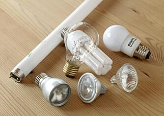 MANGE MULIGHETER: Det finnes flere mulige erstattere for glødelampen på markedet.